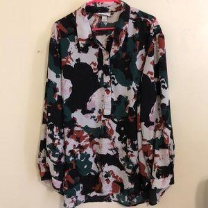 PLUS Ava & Viv popover blouse size 3X